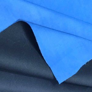 Blue Upholstery Fabric Microfiber Faux Suede